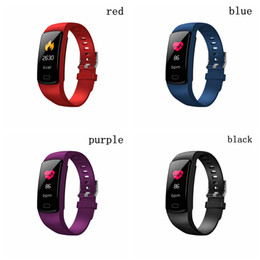 Plastic Red Heart Australia - New Coming Smart Watch Color Screen Sport Wristband Bracelet Heart Rate Monitor Activity Fitness Tracker Color Screen