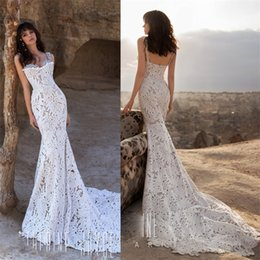 $enCountryForm.capitalKeyWord Australia - Sweetheart Neckline 2019 Wedding Dresses Beaded Strap Mermaid Wedding Gowns Sexy Lace Sweep Train Plus Size Luxury Arabic Bridal Gowns