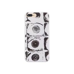 eyes case silicone UK - Tide brand Sup CDG shirt eyes wallet eyes iPhone8p x i6 6sp phone case iphone xs max phone case