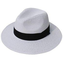bfb243242956c Black Roll Up Sun Hat Australia - Lanzom Women Wide Brim Straw Panama Roll  up Hat