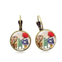 Christmas Gifts Female Australia - Cross-border hot sale Christmas time gemstone retro French ear hook female handmade small gift earrings wholesale