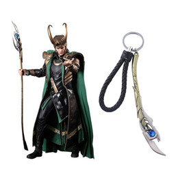 Chinese  2019 Marvel The Avengers 4 Action Figure Keychain Loki Scepter Thor's Hammer Mjolnir KeyChain Men and Women Gift keyring manufacturers