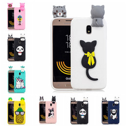 panda covers Australia - Pasted 3D Funny Panda Dog Cat Pineapple for Samsung Galaxy J3 2017 EUR J330 Case Cover Sticking a Little Silicon Doll 61 Models Option