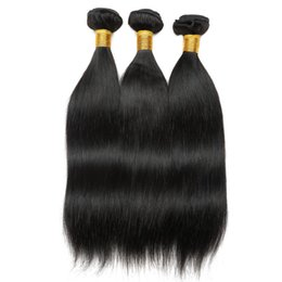 long 18 inch brazilian hair UK - Straight Human Hair Brazilian Hair Extension Hair Weft Long and Medium Two or more Pieces are Discounted