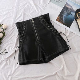 $enCountryForm.capitalKeyWord Australia - High Waist Zipper Shorts Women Autumn Winter Fashion 2018 Pu shorts Laides Sexy Black Bandage Trousers Short Sexy Shorts Femme T5190617