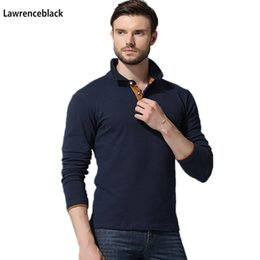 $enCountryForm.capitalKeyWord NZ - Men Cotton Anti-wrinkle 2019 New Brand Mens Designer Polos Hombre Casual Long Sleeve Solid Polo Shirts Homme Plus Size 33 C19041501