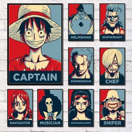luffy painting Australia - One Pieces Luffy Zoro Sanji Hot Characters Hot Japan Anime Art Painting Silk Canvas Poster Wall Home Decor
