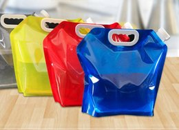 $enCountryForm.capitalKeyWord Australia - DHL 5L Outdoor Folding water bags Collapsible Drinking Water Bag Car Water Carrier Container for Outdoor Camping Hiking Picnic Drinkware