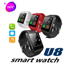 $enCountryForm.capitalKeyWord UK - Bluetooth U8 Smart Watch Wrist Watches Without Altimeter For iPhone 6 Samsung S6 Note 5 HTC Android Phone In Gift Box