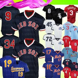 $enCountryForm.capitalKeyWord Australia - Boston Retro Red Sox 9 Ted Williams 34 David Ortiz Jersey Chicago White Mens Sox 8 Bo Jackson 19 Robin Yount Baseball Jerseys 2020