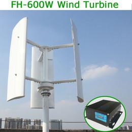 Discount 48v generator - Vertical Wind Turbine Generator 600w 12v 24v 48v 3 Phase With 3 blades Designed for Home or Streetlight Projects