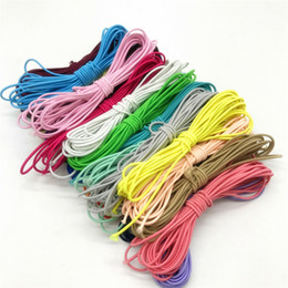 three dimensional pictures Australia - 110yards 3mm Colorful High-Quality Round Elastic Band Round Elastic Rope Rubber Band Elastic Line DIY Sewing Accessories