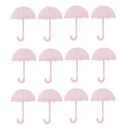 umbrella packing UK - Pack of 12 Cute Plastic Umbrella Small Chocolate Candy Gift Boxes Baby Shower Party Favor
