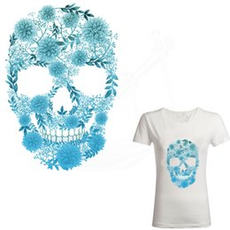 $enCountryForm.capitalKeyWord UK - 2017 new chrysanthemum Skull 26*17.7cm patch T-shirt Dresses Sweater thermal transfer stickers for clothes