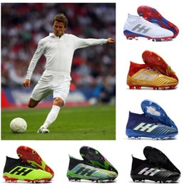 Soccer Shoes For Women Australia - HOT designer shoes Youth Football Boots Predator 18+x Pogba FG Accelerator DB Kids Soccer Shoe PureControl Purechaos Soccer Cleats for women