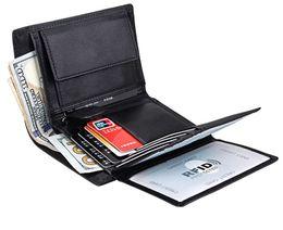 61dab9d73 Clip para billetes de cuero genuino, billetera para hombre, billetera larga  de marca de cuero para tarjetas, monedero de lujo para hombres de lujo, ...