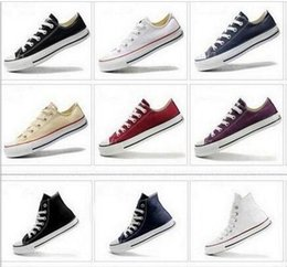 kids navy shoes girls 2019 - New big Size 35-46 High top Casual Shoes Low top Style sports Classic Canvas Shoe Sneakers Men's Women's Big k