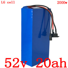 used lg phones Canada - 52V 1000W 2000W use 52v 20ah electric bicycle battery ebike lithium battery cell phone LG 52V 20AH electric scooter + 5A battery charger
