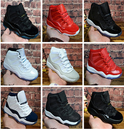 JORDAN 11s Küçük Brennen XI 11S Çocuklar Basketball Shoes Gamma Blue Concord Children Trainers Shoes Brennen Snakeskin Donanma Sneakers Space Jam 11 Eğiticiler