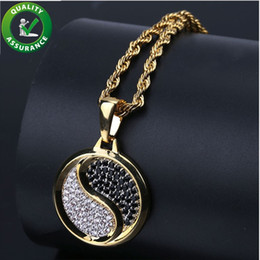 StainleSS Steel chi pendant online shopping - Hip Hop Jewelry Iced Out Pendant Luxury Designer Necklace Diamond CZ Necklaces Tai Chi Mens Gold Chain Pendants Individuality Accessories
