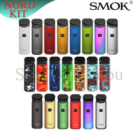 $enCountryForm.capitalKeyWord Australia - Smok Nord Kit Carbon Fiber with 1100mAh Battery 3ML Cartridge mesh coil Electronic Cigarette Vape pod kit vs SMOK novo 100% Genuine