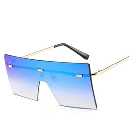 $enCountryForm.capitalKeyWord Australia - Big Frame Sunglasses Summer Polarized Women Square Gradient Color One Piece Cool Sun Glasses Outdoor Beach Eyewear OOA7034