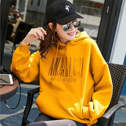 Hot Thin section sweater women 2020 new female Korean version of the spot embroidery hooded large size loose early spring women's jacket