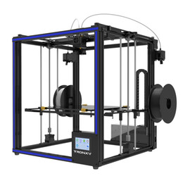 port mix 2019 - 2018 Newest Tronxy 3D Printer X5ST-2E Big Print Size330*330*400mm Mixed color Double Feeding port 3d printer Metal frame