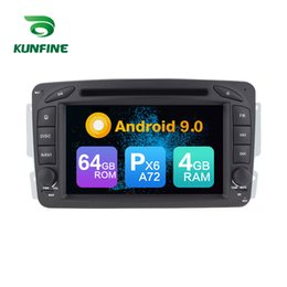 video classes NZ - Android 9.0 Core PX6 A72 Ram 4G Rom 64G Car DVD GPS Multimedia Player Car Stereo For Benz C class W203 Clk -C209 W209 Viano Radio Headunit