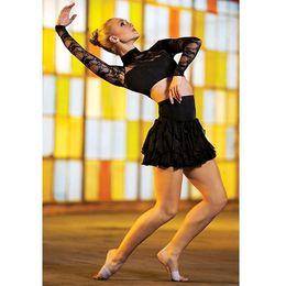 Body Suits Adults Australia - Lady Latin Dance Skirt Adult Modern Dance Wear Girls Dancing Practice Suit Half Body Short Skirt Performance Costumes D-0499