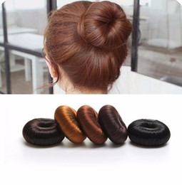 hair styling accessories for buns UK - Hot Sale Diy Styling Synthetic Wig Donut Foam Head Band Tool Bun Maker Hair Band For Women Girls Accessories