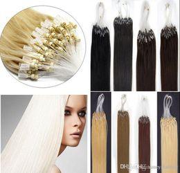 "$enCountryForm.capitalKeyWord Australia - Super Quality 16'' 18"" 20"" 22"" 24"" #1#2#4#27 #24 #1b #613 Indian Virgin Human Loop Micro Ring Hair Extensions 1g strand,100g set"