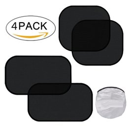 "for car siding UK - Car Window Sun Shade 4 Pack Cling Car Side Windows Sunshades For Baby UV Protection 2 Pack 20""x12"" and 2 Pack 17""x14"""