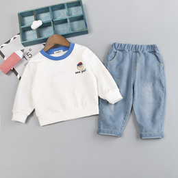 $enCountryForm.capitalKeyWord NZ - Kids Clothes Boys Cotton Linen Clothing Set Children Cotton Letter Top+trousers Baby Outfit Baby Girls Clothes for 0-4 Years (see you)