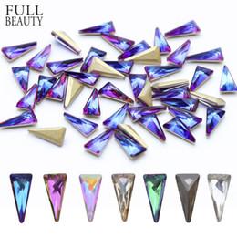 $enCountryForm.capitalKeyWord Australia - 10pcs 3D Triangle Holo Nail Art Decorations Sets Glitter Shiny Nail Stone DIY Manicure Crystal Nail Rhinestone Accessory CH094 D18120801