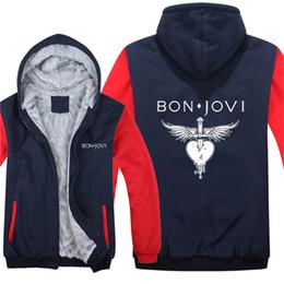 4a4cc59ef5a2 Bon Jovi cremallera Sudaderas Con Capucha Chaqueta de Invierno Hombre  Escudo Hombre Moda Lana Forro polar Unisex Boy Bon Jovi Vike Sudaderas 063