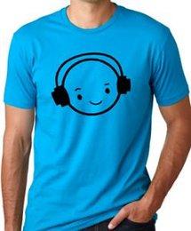 $enCountryForm.capitalKeyWord Australia - New Face DJ Funny Headphones T-Shirt Music humor Tee Think Out Loud Apparel