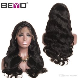 Indian Remy Hair Body Wave Australia - 13X6 Lace Front Human Hair Wigs Body Wave 8-26 Inch 150% Indian Remy Lace Frontal Wigs Free Part Pre Plucked Hairline Baby Hair