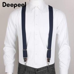 Multi strap suspenders online shopping - Deepeel cm cm Unisex Adult Clip Hook Suspenders X Type Wild Sanp Buckles Suspenders Suit Trousers Adjustable Strap
