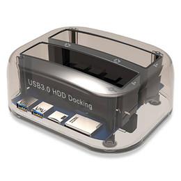 Двойные слоты USB 3.0 для SATA IDE внешний жесткий диск док-станция с кард-ридер USB-концентратор для 2.5 3.5 IDE SATA I/II/III HDD SSD