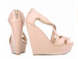 $enCountryForm.capitalKeyWord Australia - Hot Sale-New Elegant Ladies Platform Peep Toe High Heels Wedge Shoes Sandals Size ; 35-42 #391-10