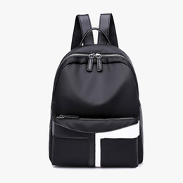 Women Backpacks 2019 New Casual Nylon Fashion Personality Stitching Tide Bag  Female College Wind Backpack Trend School bags deb9bb0b87bce