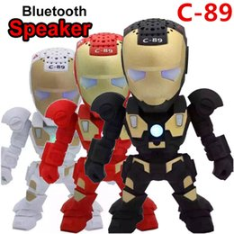 $enCountryForm.capitalKeyWord Australia - 2019 NEWEST Bluetooth Wireless Speakers Portable Mini Speaker Iron Man with LED Flashing Light Stereo Hifi Sound Box TF USB MP3 for PC