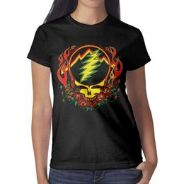 $enCountryForm.capitalKeyWord NZ - Grateful Dead skull rose Women T-shirts Cozy Workout Personalised T Shirts Printing Short Sleeve Shirts Super Woman T Shirt