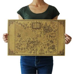 Vintage Style World Maps Australia - Map Of The Wizarding World Of Around The Big Paper Poster Movie 51*32.5cm Classic Poster Vintage Retro Paper Craft