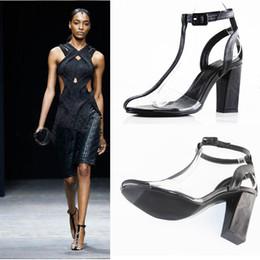 $enCountryForm.capitalKeyWord Australia - Summer Women Clear Sandals T-strap Block High Heels PVC Peep Toe Shoes Gladiator Sandalias Fashion Runway Sandals