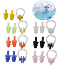 Swimming Nose Earplug Australia - 1Set Waterproof Soft Silicone Swimming Set Soft Nose Clip + Ear Plug Earplug Tool
