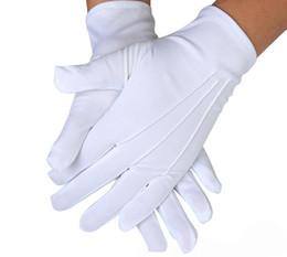 White Summer Gloves NZ - Large Size Full Finger Spandex Glove Mens 3 Ribs Black White Driving Gloves