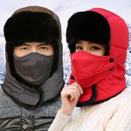 $enCountryForm.capitalKeyWord Australia - New Men Hats Winter Wool Ski Hat scarf Set Bonnet Cap Earmuffs Thermal Outdoor Female Male beanie mask Ski balaclava motorcycle