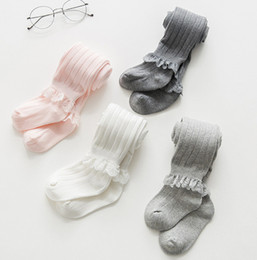 $enCountryForm.capitalKeyWord Australia - 2019 Autumn New Girls leggings children vertical stripe knitted pants kids lace hollow embroidery falbala bottom+cotton socks 2pcs sets F791